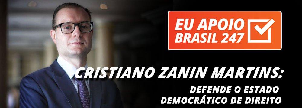 """O advogado Cristiano Zanin Martins, que defende o ex-presidente Luiz Inácio Lula da Silva, apoia a campanha de assinaturas solidárias do 247. """"É muito importante a participação da mídia alternativa na democratização da notícia e na defesa do estado democrático de direito"""", diz ele"""