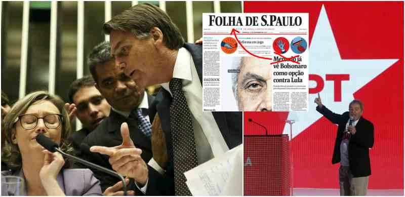 """Apesar de começar a """"deglutir"""" Bolsonaro, a Folha ainda o vê com reservas sobretudo na área econômica que, segundo o jornalão dos Frias, """"tenta incorporar a sua retórica alguns rudimentos do liberalismo e da responsabilidade orçamentária"""""""