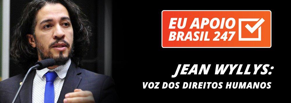"""O deputado Jean Wyllys (PSOL-RJ) apoia a campanha de assinaturas solidárias do 247. """"Quando há concentração dos meios nas mãos de famílias, a democracia fica comprometida, na medida em que as pessoas não têm acesso a uma pluralidade de opiniões, de vozes e de posições de diferentes atores políticos.Por isso, é importante que a gente a ajude a financiar os meios que dão voz aos movimentos sociais, aos ativistas de direitos humanos e aos partidos de esquerda"""", afirma"""