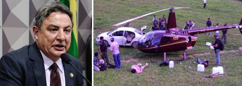 """Um helicóptero da família do senador Zezé Perella (SD-MG), que foi apreendido com meia tonelada de cocaína, não pode mais ser chamado de """"helicoca"""", por decisão de uma juíza federal; censura avança no País"""