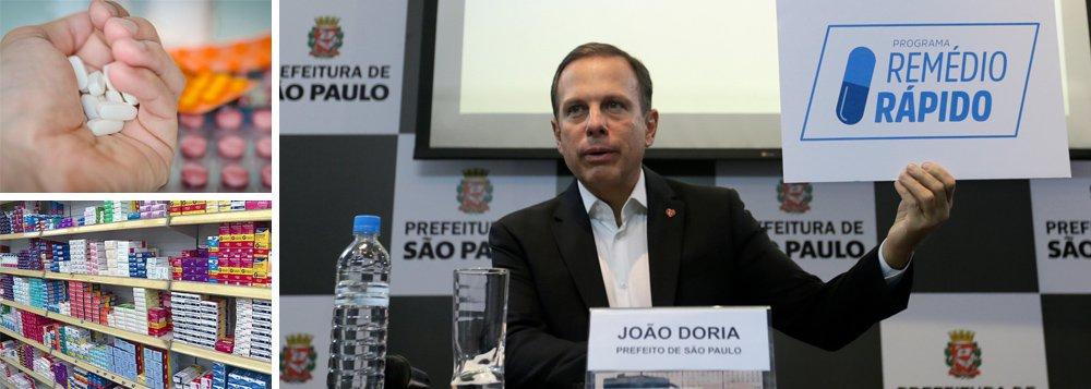 """Mais um escândalo atinge a administração de João Doria, prefeito de São Paulo eleito pelo PSDB; laboratórios farmacêuticos doaram à Prefeitura remédios praticamente vencidos, ganharam isenção fiscal e se livraram dos custos de descarte, mas os produtos, impróprios para uso humano, tiveram que ser jogados fora pela prefeitura; denúncia foi publicada nesta manhã pela CBN; Doria, que se vendia como """"gestor"""" moderno, anunciou ontem que não disputará mais a presidência e disse que pode ser candidato a governador, mas escândalos recorrentes podem abalar suas pretensões políticas"""