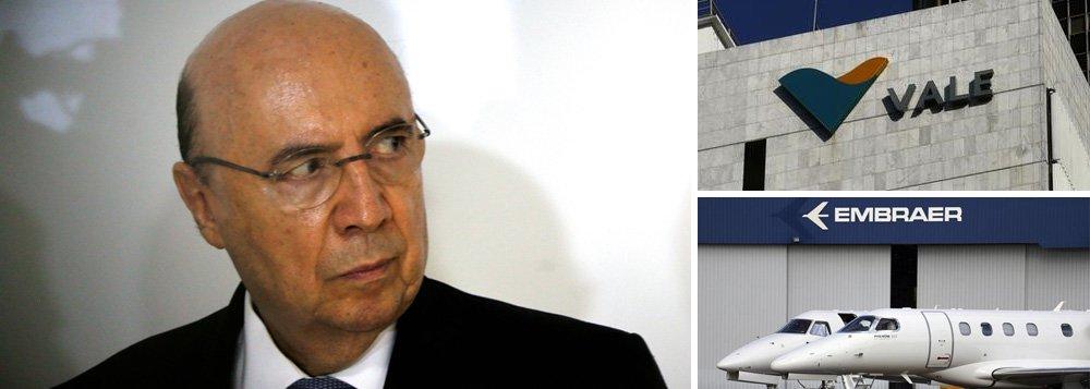 """""""Na véspera do dia da independência, o Brasil está a um passo de perde-la mais do que já a perdeu"""", diz Fernando Brito, editor do Tijolaço; ele lembra queHenrique Meirelles enviou ao Tribunal de Contas da União uma consulta sobre como vender as """"golden share"""", ações que estabelecem o poder de veto a decisões consideradas lesivas ao interesse nacional nas empresas privatizadas, como a Vale, a Embraer e o Instituto de Resseguros do Brasil"""