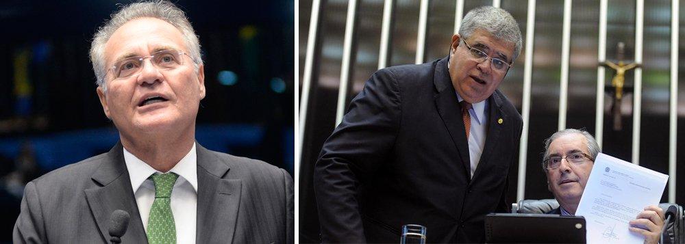 """Senador Renan Calheiros (PMDB-AL) criticou a decisão do governo Temer de nomear Carlos Marun, braço-direito de Eduardo Cunha, para a Secretaria de Governo; """"Um absurdo"""", disse Renan; depois da repercussão negativa, o Planalto decidiu manter Antonio Imbassahy no comando da pasta"""