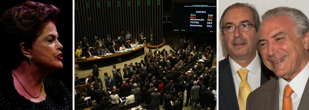"""Presidente legítima e deposta Dilma Rousseff criticou a rejeição da investigação do crime corrupção passiva de Michel Temer, aprovada pela Câmara dos Deputados; segundo Dilma, os deputados que concederam anistia a Michel Temer são reincidentes em proteger criminosos; """"Os deputados que, ontem, salvaram o presidente golpista de ser julgado no STF por crime de corrupção são os mesmos que, no ano passado, deram início ao impeachment fraudulento. São os mesmos que elegeram Eduardo Cunha para a presidência da Câmara. E são os mesmos que, agora, salvam Temer"""", disse Dilma sua página no Facebook; """"Resta-nos continuar lutando contra a pauta regressiva dos golpistas que serão julgados pela história e condenados pelo voto popular"""""""