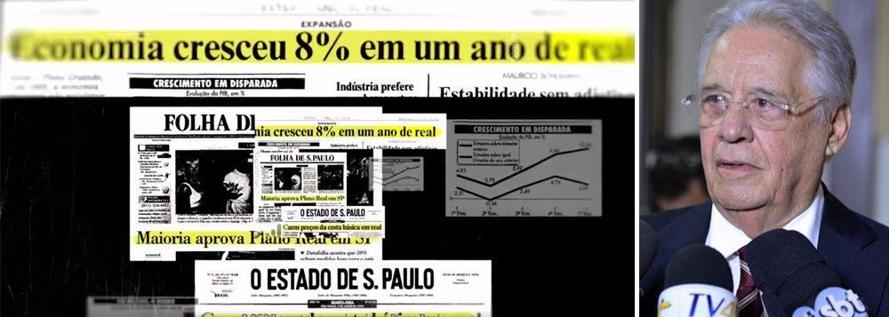 """O ex-presidente Fernando Henrique Cardoso ajudou a elaborar a propaganda em que o PSDB diz fazer uma autocrítica e que acabou rachando o partido; o cacique tucano é quem teria trocado o termo """"presidencialismo de coalização"""" para """"cooptação"""", a fim de fazer uma crítica ao governo Temer"""
