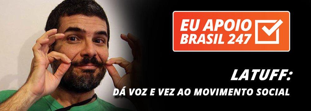"""O cartunista Latuff, um dos mais renomados do mundo, também apoia a campanha de assinaturas solidárias do 247. """"Se você, como eu, apoia a imprensa de esquerda e combativa, apoie também essa campanha de assinaturas do Brasil 247"""""""