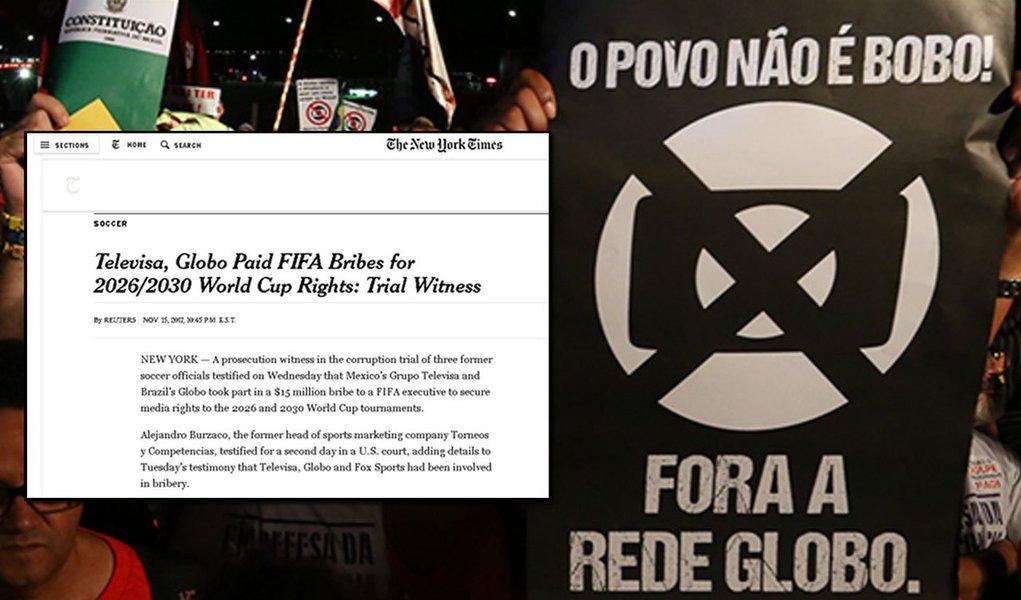 O momento é oportuno para lembrar que a Globo está em mãos de seus credores norte-americanos. O grupo entrou com um pedido de falência de suas dívidas internacionais no dia seguinte à vitória de Lula em 2002. A Globo tentou dar um beiço em seus credores nos EUA, mas não conseguiu