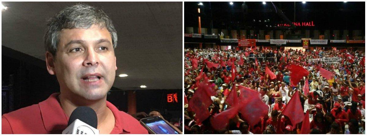 """O senador Lindbergh Farias (PT-RJ) acompanha o projeto Lula Pelo Brasil e afirmou as pessoas olham para o presidente Lula e lembram do que foi feito no País; """"A inclusão social, 32 milhões de pessoas saíram da pobreza absoluta O Lula aponta isso, para a esperança no novo futuro"""", disse o parlamentar, em Teresina; relato do Piauí Hoje"""