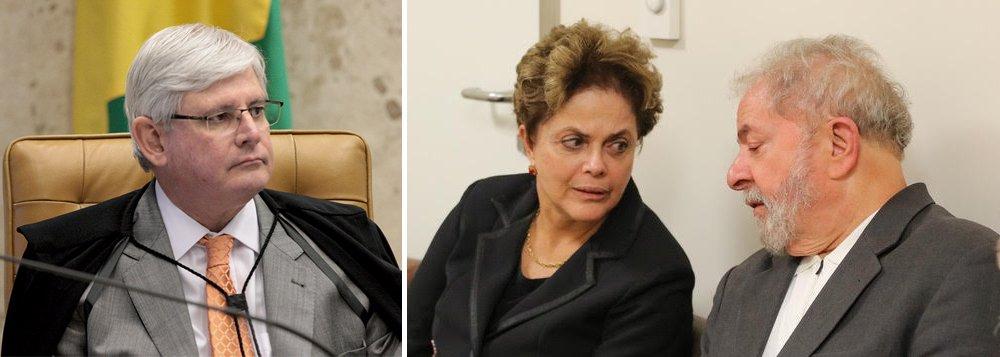 """Jornalista Fernando Brito diz que o procurador-geral da República, Rodrigo Janot, está """"desmoralizado"""" e tenta resgatar a imagem em cima da presidente deposta Dilma Rousseff e do ex-presidente Lula; """"Enlameado pela imundície da delação da JBS, Rodrigo Janot tenta """"se limpar"""" com a mídia, depois da vergonha que protagonizou. É que com Lula e Dilma, claro, não é preciso provas"""", diz Brito; """"'Que vergonha, Janot"""""""