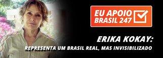 """A deputada Erika Kokay (PT-DF), uma das mais combativas do parlamento brasileiro, apoia a campanha de assinaturas solidárias do Brasil 247. """"O 247 representa um Brasil real, mas invisibilizado. Um Brasil que tem várias vozes e quer a democracia de volta. Um Brasil que entende que democracia e direitos caminham juntos"""", diz ela"""
