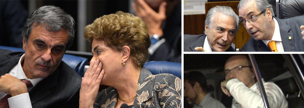 """Ex-ministro da Justiça e advogado da presidente deposta Dilma Rousseff, José Eduardo Cardozo criticou o comportamento da mídia brasileira, que tem ignorado o depoimento em que o doleiro Lúcio Funaro como o ex-presidente da Câmara Eduardo Cunha comprou votos de deputados no impeachment de Dilma; """"É como se quisessem esconder essa podridão debaixo do tapete, vamos só registrar que ela existe. Estamos diante de um impeachment presidencial em que alguém disse que houve compra de votos. Isso era para manchetes principais dos telejornais"""", disse; Cardozo confirmou a juntada da delação de Funaro aos autos do mandado de segurança que será julgado pelo STF, pedindo a anulação do impeachment"""