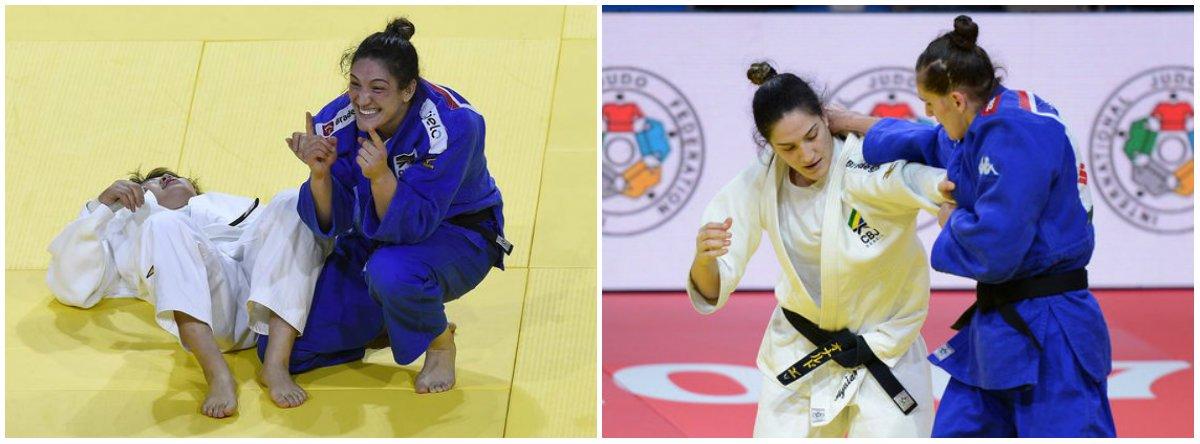Judoca gaúcha faz história no esporte brasileiro ao se tornar a primeira mulher bicampeã mundial em qualquer modalidade individual olímpica; Mayra venceu a japonesa Mami Umeki, ganhadora em Astana-2015,nesta sexta-feira em Budapeste, na decisão para conquistar pela segunda vez na carreira o título na categoria até 78kg