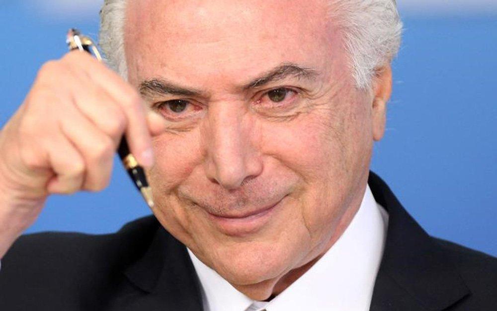 Presidente Michel Temer durante cerimônia no Palácio do Planalto, em Brasília 12/07/2017 REUTERS/Adriano Machado