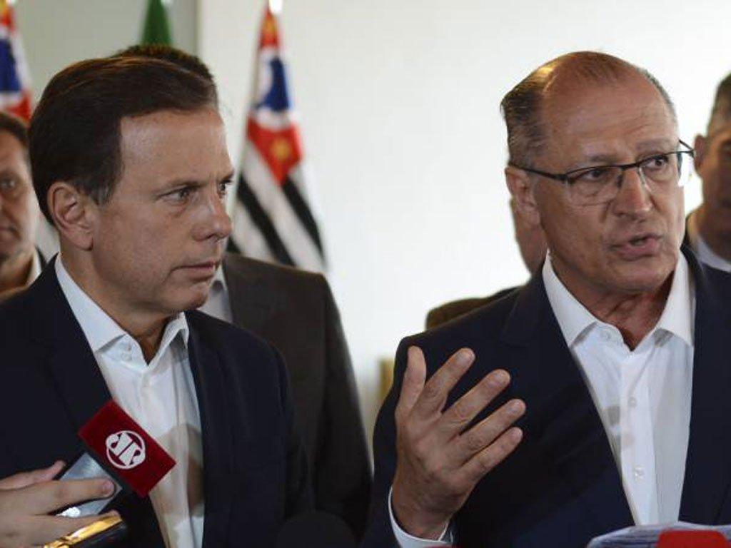 Prefeito de São Paulo, João Doria (PSDB), e governador de São Paulo, Geraldo Alckmin (PSDB)