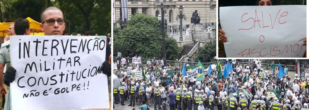 """""""O mais longo período democrático da República foi interrompido porque as escolhas do povo brasileiro referendadas nas urnas em 2014 foram desrespeitadas por um consórcio de vendilhões e canalhas a serviço de uma elite medíocre, desumana, subserviente a interesses transnacionais"""", avalia o colunista do 247 Daniel Samam; """"É ela, essa mesma elite vira-lata quem decide pelo Brasil. Atualmente, representada por concurseiros da tecnocracia estatal (MP, PF e setores do Judiciário), respaldados pela Banca (capital financeiro) e pela Rede Globo. A tal aliança antinacional de que tanto me refiro em meus artigos. E quando estes decidem por nós, sejam juízes, procuradores, delegados, generais ou qualquer outro que não tenha se submetido ao voto popular, o que temos, de fato, é o fascismo"""""""