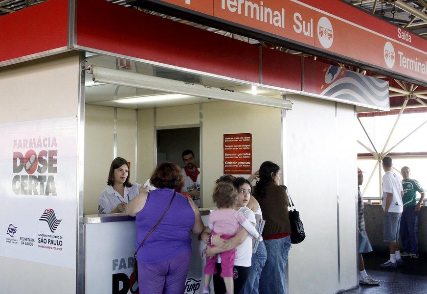 Dos 14 postosque funcionavam desde 2004,administrados pelo governo estadual, apenas seis continuam abertos; um diferencial do programa é que as farmácias estão, ou estavam, localizadasem pontos de grande circulação, como terminais de ônibus e estações de metrô, facilitando o acesso aos medicamentos
