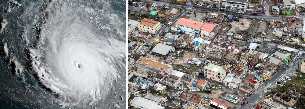 O furacão Irma atravessou a República Dominicana em direção do Haiti nesta quinta-feira após devastar uma série de ilhas caribenhas e matar ao menos 10 pessoas, como uma das tempestades mais poderosas do Atlântico em um século que agora ruma para o Estado norte-americano da Flórida; com ventos de cerca de 290 quilômetros por hora, a tempestade assolou várias ilhas pequenas no nordeste do Caribe, incluindo Barbuda, St. Martin e as Ilhas Virgens Britânicas, arrancando árvores, derrubando casas e provocando danos generalizados