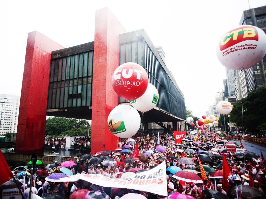 CUT, ato 1º de Maio, avenida , São Paulo,protesto, manifestação