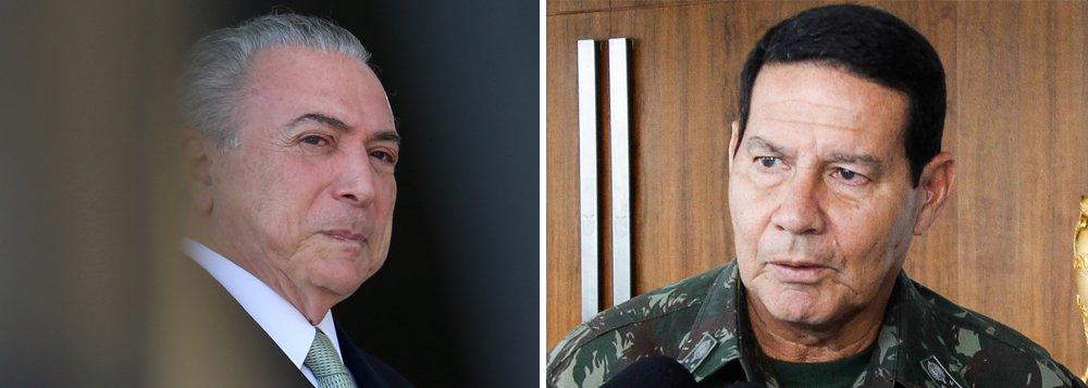 """""""A declaração do general Hamilton Mourão, de que as Forças Armadas poderão intervir caso as instituições não resolvam as questões políticas, não deve ser encarada como ameaça de nova ditadura militar mas como um alerta para a deterioração das instituições brasileiras, que está chegando a níveis insuportáveis e sendo observada também pelos militares"""", diz o colunista Ribamar Fonseca; """"O importante, agora, portanto, é que todos os brasileiros, incluindo os militares, esqueçam as diferenças e se unam em defesa do Brasil, expurgando essa camarilha que tomou conta do poder e que está desmontando todas as nossas conquistas, destruindo o país, cumprindo a agenda do Tio Sam, que não quer perder o seu controle. O momento, na realidade, é grave e precisa da união de todos"""""""