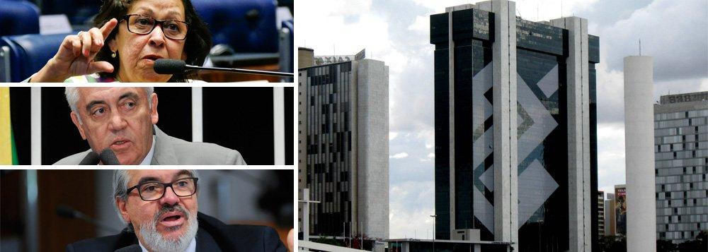 """A senadora baiana Lídice da Mata (PSB) apresentou requerimento convidando o presidente do Banco do Brasil a comparecer à Comissão de Assuntos Econômicos do Senado para esclarecer a não assinatura dos contratos de crédito, com garantia, a serem celebrados entre a União e o Estado da Bahia, no valor de R$ 600 milhões; os outros senadores baianos, Otto Alencar (PSD) e Roberto Muniz (PP), também assinaram o pedido; os senadores baianos atribuem o bloqueio dos recursos a um boicote articulado pelo prefeito ACM Neto a Michel Temer; """"Esse DNA da perseguição eu conheço de perto"""", afirma Lídice"""