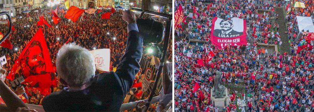 """Depois que prestou depoimento ao juiz Sérgio Moro por cerca de duas horas nesta quarta-feira, 13, em Curitiba, o ex-presidente Luiz Inácio Lula da Silva discursou para uma multidão que o aguardava naPraça Generoso Marques; Em discurso rápido, mas firme, Lula disse que para a militância não se preocupar com os depoimentos dele; """"Eu virei a Curitiba quantas vezes forem necessárias porque a verdade vencerá a mentira"""", disse; Lula disse também que """"não há na história da humanidade nenhum estadista que resolveu governar para os pobres e tivesse resistido à sanha da elite perversa""""; """"Se eles estão com medo de que eu volte a governar esse país, é bom eles terem medo mesmo"""", afirmou"""
