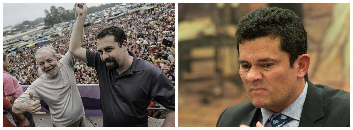 Lula, líder do MTST, Guilherme Boulos e juiz federal Sérgio Moro 2