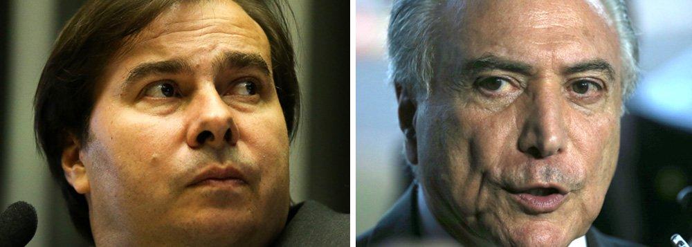 """Se a relação entre Rodrigo Maia (DEM-RJ) e o governo de Michel Temer (PMDB) não estava bem, a recente entrevista do presidente da Câmara ao jornal """"Valor Econômico"""" na qual diz que não fez """"com eles [PMDB] o que eles fizeram com a Dilma"""", deixou o clima ainda mais tenso; segundo o colunista Gerson Camarotti, """"a ordem no Planalto foi de não repercutir a fala de Maia para evitar atrito com um aliado importante, principalmente neste momento em que a Câmara analisa a segunda denúncia contra Temer"""""""