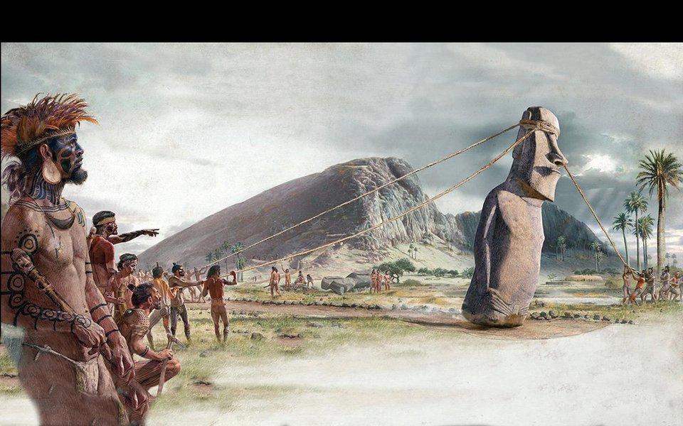 A história foi injusta com a civilização da Ilha de Páscoa. Pesquisas recentes propõem uma verdade bem diferente sobre as razões pelas quais colapsou uma das mais interessantes, remotas e isoladas culturas surgidas na imensidão do Oceano Pacífico.