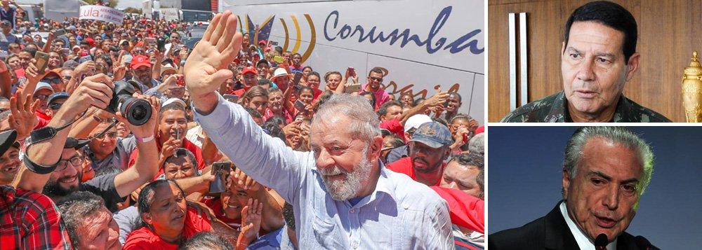 """""""A corrupção, suscitada pelo General Mourão e seus apoiadores, não justifica golpes militares. A corrupção foi, também, a justificativa para o golpe parlamentar. Foi a cortina de fumaça para impedir a continuidade de um projeto de nação que assegurou melhorias das condições de vida do povo e a afirmação da soberania nacional"""", diz o colunista Aldo Arantes, que foi deputado constituinte em 1988; """"A saída da crise não está em salvadores da pátria e sim no povo. Só o povo poderá decidir os rumos futuros do pais através de eleições diretas com a garantia da participação do ex-presidente Lula"""", afirma"""