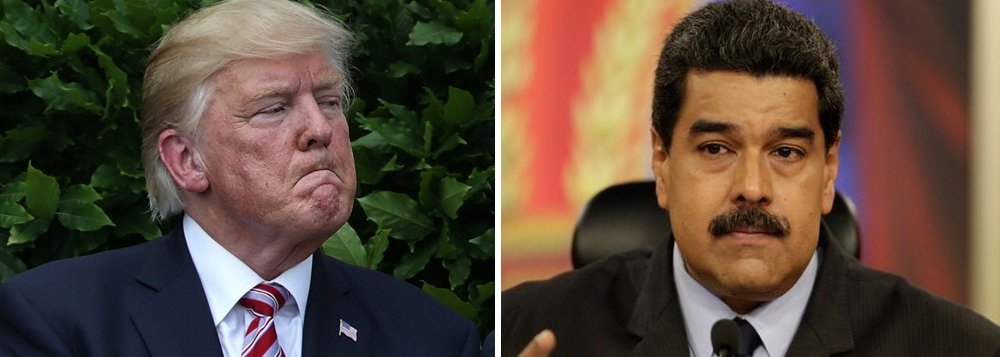 """Depois das eleições em que 8 milhões de venezuelanos votaram para eleger uma nova Assembleia Nacional Constituinte, o presidente dos Estados Unidos acusou o golpe; nesta segunda-feira, ele determinou o congelamento de todos os bens de Nicolás Maduro e o chamou de """"ditador""""; a Venezuela tem as maiores reservas de petróleo do mundo e a CIA estava apoiando a oposição em sua tentativa de derrubada do governo Maduro"""
