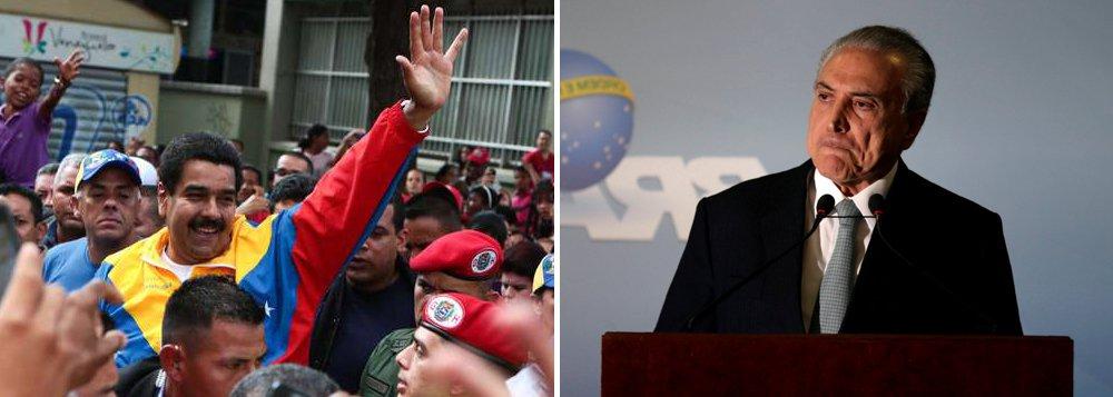 """""""Na Venezuela, Maduro está tentando implantar uma ditadura dos pobres antes que os ricos instalem a deles. Não tem esse mimimi de 'ah, mas o Maduro é de esquerda e a esquerda é democrática'. Foi com esse tipo de conversa mole que a esquerda brasileira foi golpeada no Brasil. E o que temos no poder? Uma ditadura! A ditadura Temer é melhor que a ditadura Maduro?"""", diz o colunista Alex Solnik"""