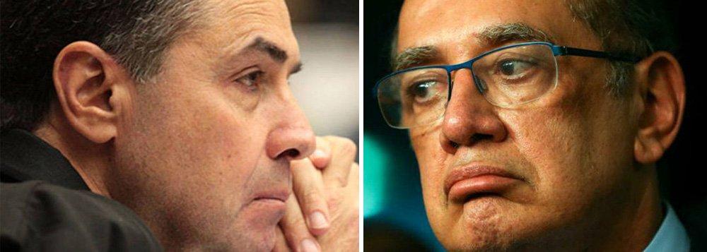 """O embate entre os juízes do STF Luís Roberto Barroso e Gilmar Mendes é nova evidência da degradação irreversível da Suprema Corte do país, defende o colunista do 247 Jeferson Miola; para ele, os argumentos de Barroso contra o colega Gilmar são """"sólidos"""" e encontram abrigo no artigo 95 da Constituição, no Código de Ética da Magistratura, na Lei Orgânica da Magistratura e no Código de Processo Civil; """"As declarações de Barroso são comprometedoras não somente para Gilmar, mas principalmente para o próprio Supremo. Elas chegam em péssimo momento para Gilmar. Nesta semana, descobriu-se que ele manteve 46 contatos telefônicos com o criminoso Aécio Neves logo após o presidente do seu PSDB ser flagrado combinando propina com o empresário corruptor Joesley Batista"""", diz Miola"""