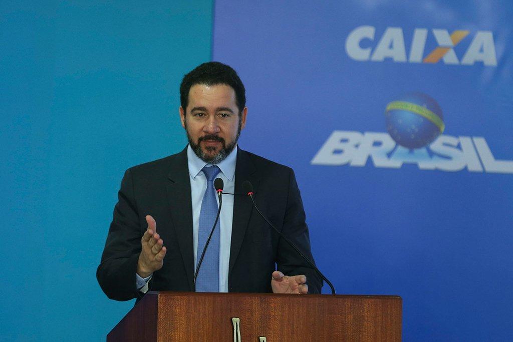 Brasília - O ministro do Planejamento, Dyogo Oliveira, na cerimônia de anúncio da distribuição dos lucros do Fundo de Garantia do Tempo de Serviço (FGTS) em 2016 para os trabalhadores (Valter Campanato/Agência Brasil)