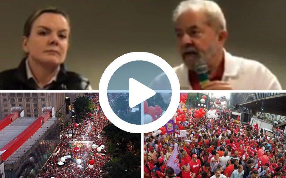 """O ex-presidente Lula participou nesta segunda-feira, 31, do lançamento doBrasil em Movimento, da Fundação Perseu Abramo, pela qual ele deverá rodar o País ouvindo eleitores e denunciado o retrocesso do governo de Michel Temer; Lula defendeu o legado do PT, destacou que o partido precisa retomar o seu protagonismo. """"O objetivo deles era tentar destruir o mais importante partido político de esquerda que esse país já conheceu. Com todos os defeitos que nós temos, não existe nada parecido com o nosso partido no país"""", disse Lula, ao lado da presidente nacional do PT, senadora Gleisi Hoffmann; """"O PT não vencerá essa tarefa se não formos pra rua. O PT precisa voltar a acreditar no seu poder de convencimento e conversar com as pessoas"""", acrescentou; assista acima"""