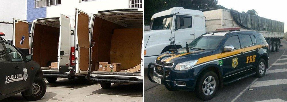 Policiais civis e rodoviários federais fazem uma operação em três comunidades da zona norte da cidade do Rio, para reprimir os roubos de carga e de veículos; a chamada Operação Tempo Zero está cumprindo 15 mandados de prisão; a ação faz parte desse Plano Nacional de Segurança no Rio de Janeiro