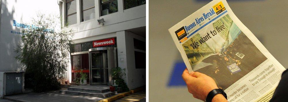 """Com 140 anos de circulação, o jornal """"Buenos Aires Herald"""" anunciou seu fim nesta terça-feira; em mensagem no Twitter, o jornal disse que """"os funcionários do Herald foram informados de que o jornal está sendo fechado"""";a decisão foi tomada menos de um ano depois de o jornal passar para uma edição impressa semanal, culpando as condições econômicas difíceis e uma grande migração de leitores para as mídias digitais"""