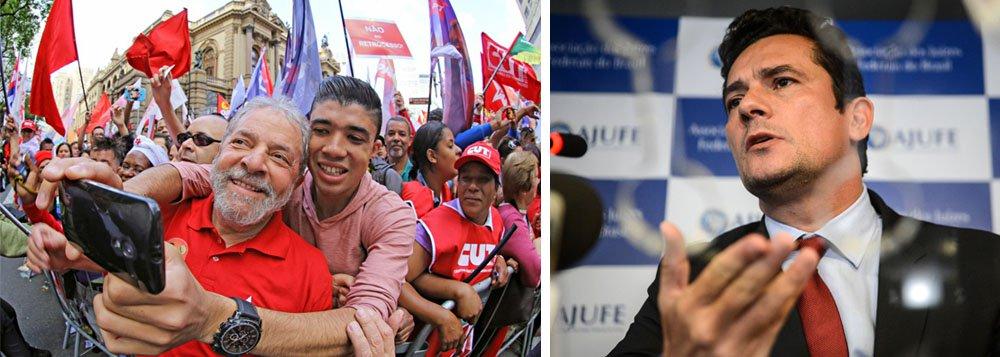 Lula optou por enfrentar um juiz que usa o processo legal com fins político-ideológicos. Pelo menos faz o que espera o setor da sociedade que o apoia e, com isso, ganha força política assim como Moro ganha no lado oposto do espectro político