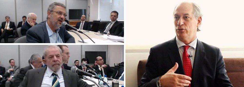"""No momento em que o ex-presidente Lula é alvo de uma caçada judicial e corre o risco de ser impedido de disputar as próximas eleições presidenciais, o candidato Ciro Gomes, do PDT, fez um movimento mal calculado e deu crédito ao depoimento do ex-ministro Antonio Palocci;""""Fere o centro da narrativa de Lula e do PT, de que há um inimigo externo ao PT promovendo, via judicial, uma perseguição injusta contra o presidente"""", disse Ciro;""""Na medida em que um braço direito de Lula faz isso, fica difícil sustentar a narrativa e atribuir a inimigos"""", afirmou; isso significa que a possibilidade de Ciro vir a se tornar um possível plano B do PT e do próprio Lula foi praticamente dinamitada"""