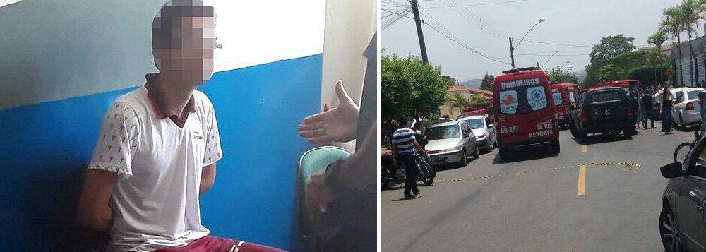 O Tribunal de Justiça de Goiás (TJ-GO) informou nesta segunda-feira (23) que a audiência de apresentação à Vara da Infância e Juventude do adolescente que, na última sexta-feira (20), disparou contra outros alunos de uma escola particular de Goiânia (GO), matando dois estudantes e ferindo quatro, não acontecerá nesta segunda-feira (23), conforme inicialmente anunciado;ainda não foi designada a data da audiência