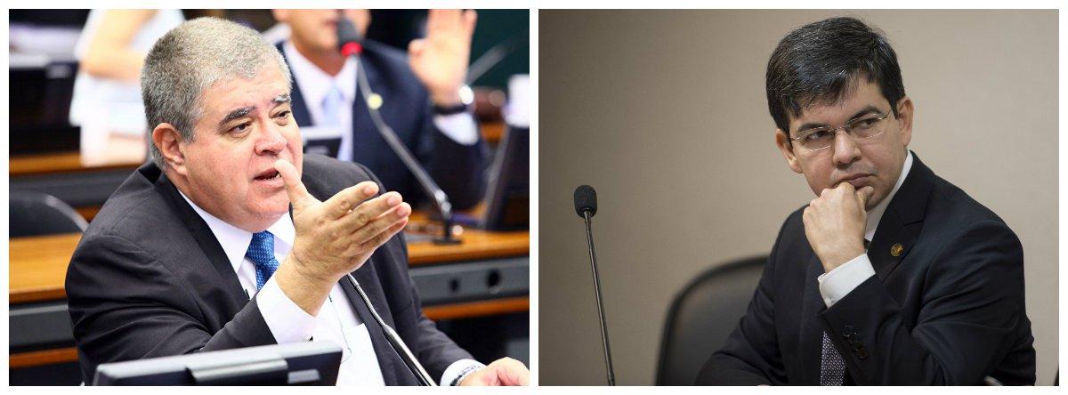 Deputado Carlos Marun (PMDB-MS) e senador Randolfe Rodrigues (Rede-AP) .2