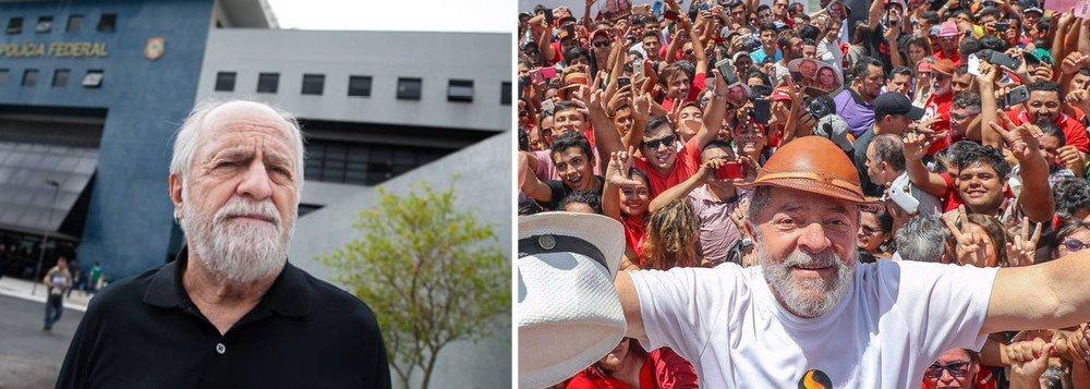 """O ator Ary Fontoura, que interpreta o ex-presidente Lula no filma """"Policia Federal - A lei é para todos"""", obra acusada de ser uma pela de propaganda política contra Lula e o PT, disse que ainda tem """"certa admiração"""" pelo petista e que ele """"está vivendo seu inferno astral""""; """"A dificuldade maior é fazer um personagem que está vivo e usar o nome dele. Ainda mais tendo uma certa admiração por ele [Lula], porque, bem ou mal, eu tenho uma admiração pela história dele"""" disse o ator; """"É um inferno astral em que ele está. Todos nós temos o nosso céu, o nosso inferno"""""""