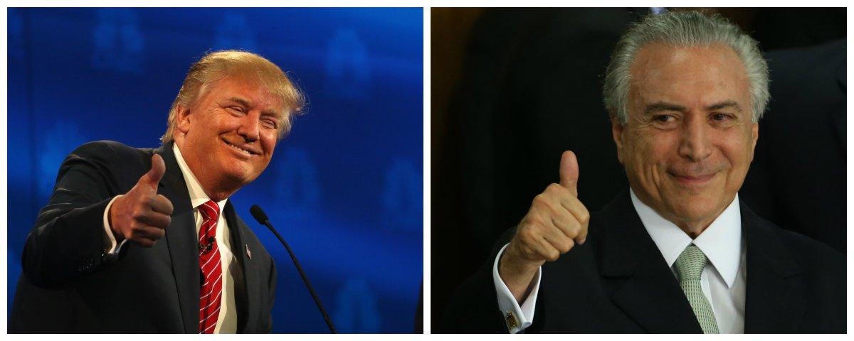 Presidente dos EUA, Donald Trump, e Michel Temer .2