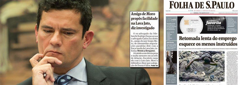 """Em nota enviada ao 247, o juiz Sergio Moro afirma que """"o advogado Carlos Zucoloto Jr. é meu amigo pessoal e lamento que o seu nome seja utilizado por um acusado foragido e em uma matéria jornalística irresponsável para denegrir-me""""; ele diz ainda lamentar """"o crédito dado pela jornalista ao relato falso de um acusado foragido, tendo ela sido alertada da falsidade por todas as pessoas citadas na matéria""""; reportagem de Mônica Bergamo informa que um doleiro acusa o amigo de Moro de intermediar favores na Lava Jato"""