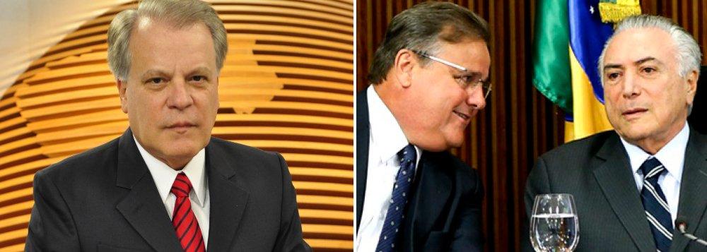 """Jornalista Chico Pinheiro criticou o ex-ministro Geddel Vieira Lima, parceiro de Michel Temer na arrecadação e distribuição de propinas no PMDB, que foi preso pela Polícia Federal nesta sexta-feira, 8; """"Temer indicou Geddel ministro de Lula. Temer indicou Geddel para a Caixa com Dilma. Temer o fez seu ministro. E Geddel não explica os 51 mi!"""", disse o apresentador do Bom Dia Brasil, da TV Globo, em sua página no Twitter"""