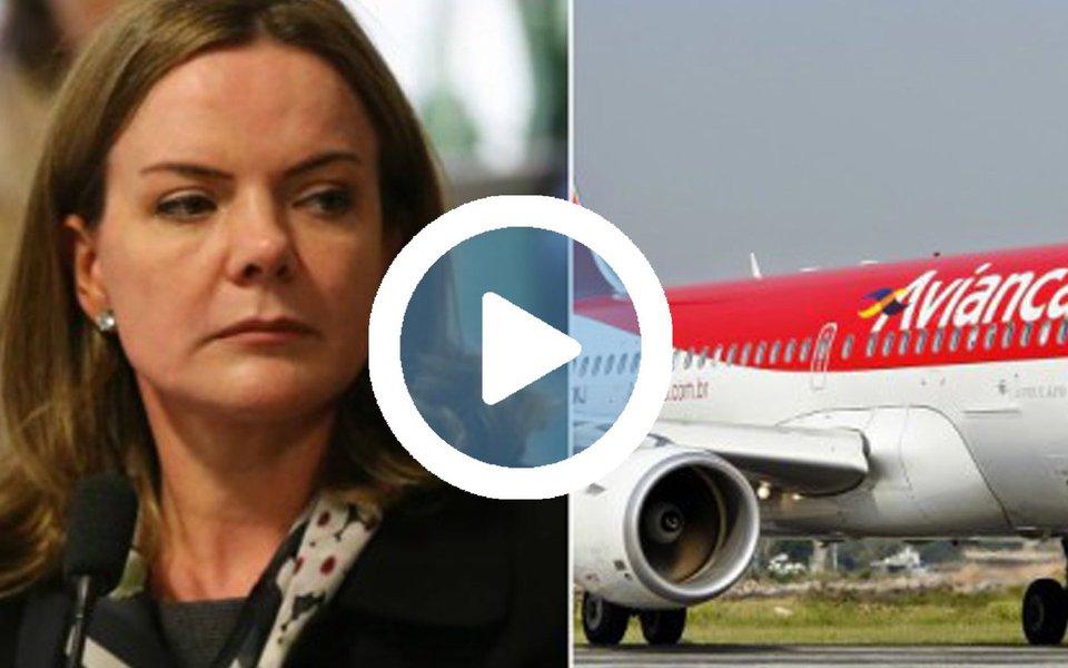 Um machão de cozinha se deu mal com a senadora Gleisi Hoffmann, presidenta nacional do PT, ao tentar agredi-la durante o pouso de um voo da Avianca, em São Paulo, nesta quinta (20)