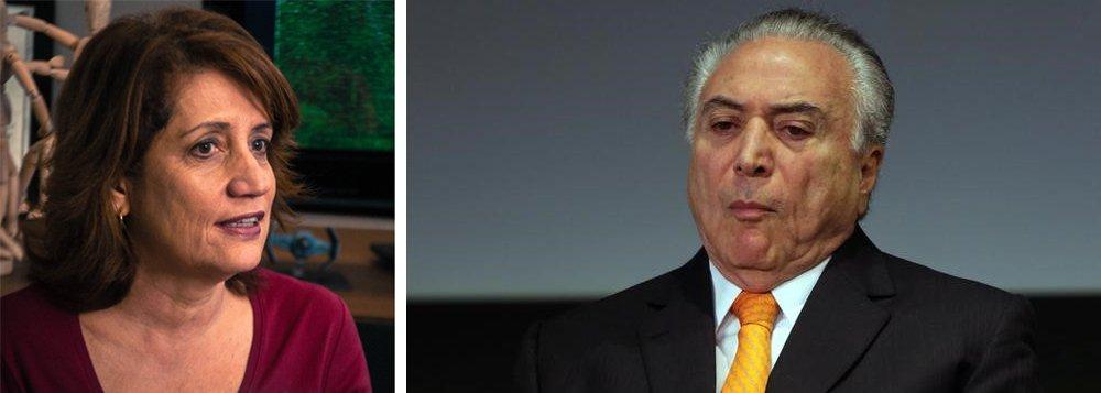 A dívida interna, que vinha se mantendo ao redor de 60% do PIB, durante o governo da presidente Dilma Rousseff, irá a 90% do PIB depois do colapso fiscal produzido por Michel Temer; quem aponta esse cenário desastroso é a colunista Miriam Leitão, do Globo
