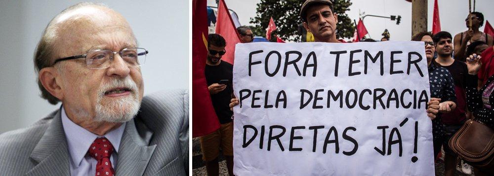 """Vice-presidente nacional do PSDB e ex-governador de São Paulo, Alberto Goldman afirma, mesmo com 85% dos brasileiros defendendo eleições diretas para a escolha do substituto de Michel Temer, que o melhor caminho para superação da crise se Temer renunciar é a convocação de eleições indiretas; para ele, """"mudar a Constituição a um ano e meio das eleições de 2018 para mexer no processo eleitoral não tem o mínimo sentido"""""""