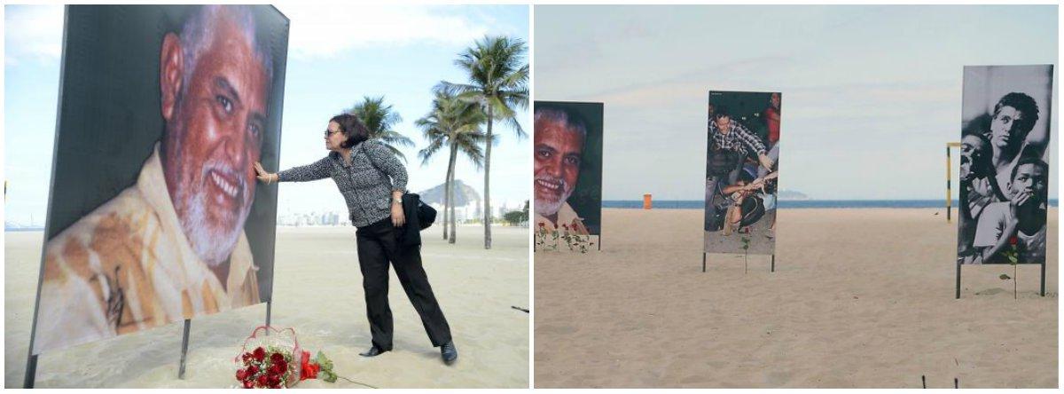 Oito painéis com fotos do jornalista Tim Lopes foram instalados na praia de Copacabana, na altura da Avenida Princesa Isabel, e de outros profissionais da imprensa, mortos ou agredidos no exercício da profissão; também foi colocada no local uma lista com os nomes de 37 profissionais da imprensa mortos no país desde 2002; o ato, feito pela organização não governamental (ONG) Rio de Paz, marca os 15 anos do assassinato de Tim, aos 51 anos, em junho de 2002, na Vila Cruzeiro, na Penha, zona norte da cidade, quando fazia reportagem sobre a exploração sexual de adolescentes em bailesfunk, promovidos por traficantes da região