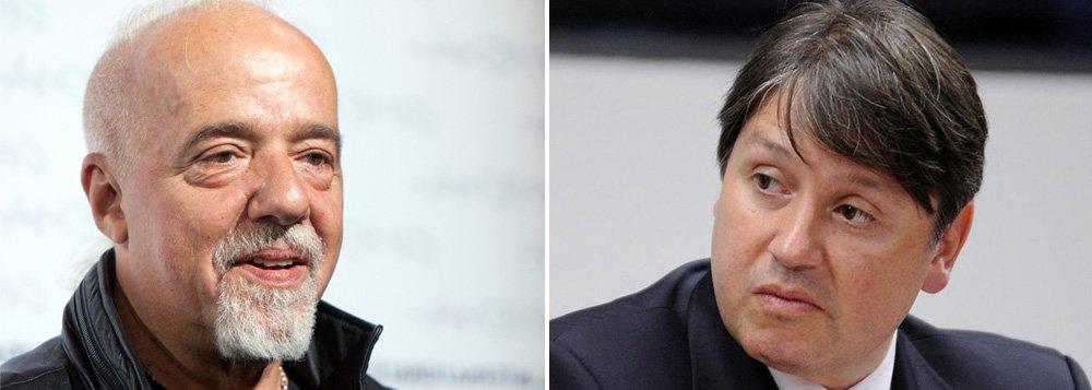 """Escritor Paulo Coelho criticou nesta quinta-feira, 27, o ex-deputado e homem da mala de Michel Temer, Rodrigo Rocha Loures (PMDB-PR); """"Não basta roubar; é preciso também tratar todo mundo como idiota"""", afirmou o escritor em sua página no Twitter; ele compartilhou reportagem do Poder360 com o advogado de Rocha Loures, em que ele classifica como ilegal o flagrante da Polícia Federal do assessor de Temer recebendo a mala com R$ 500 mil"""
