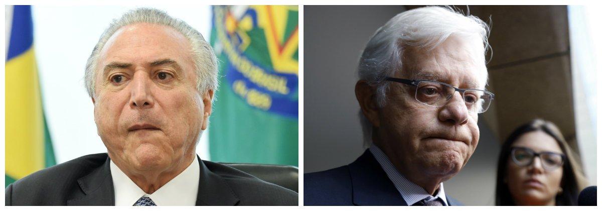 Michel Temer e ministro da Secretaria Geral da Presidência da República, Moreira Franco .2